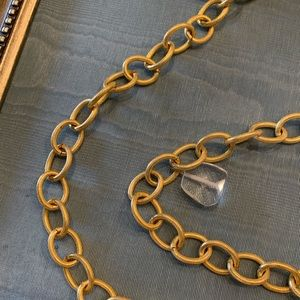 Fashion Jewelry Jewelry - Necklace! Gold chain with Various sizes of beads